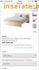 IKEA bed MALM with Mattress 160x200